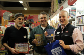 Glenn Wolff, Jerry Dennis, and Matt Norcross at McLean & Eakin Booksellers, Petoskey, MI